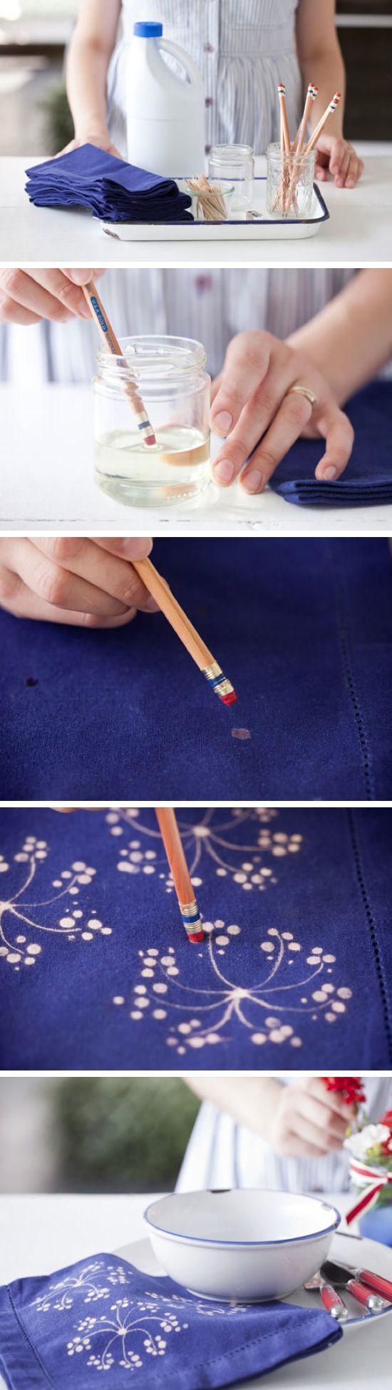 Customizar jeans com alvejante