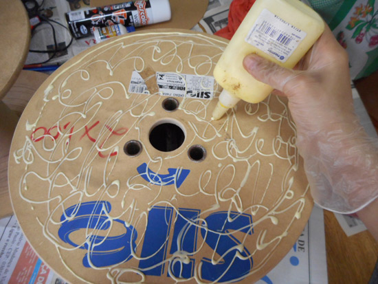 Como fazer mesinha de carretel