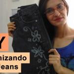 Customizando calça jeans com alvejante