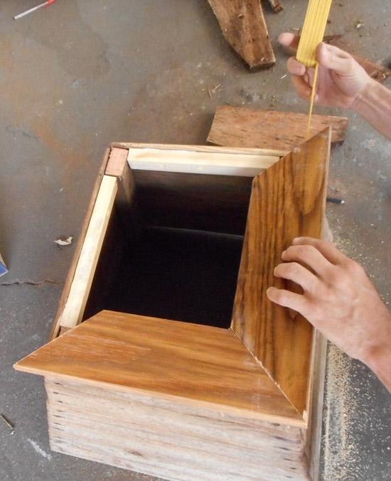 Como restaurar cachepô de madeira