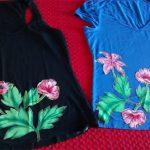 Customização de blusinhas com chita