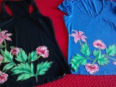 Customizando blusas e camisetas com chita