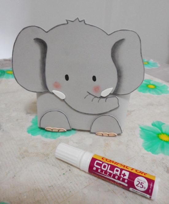 Porta-treco elefante de EVA
