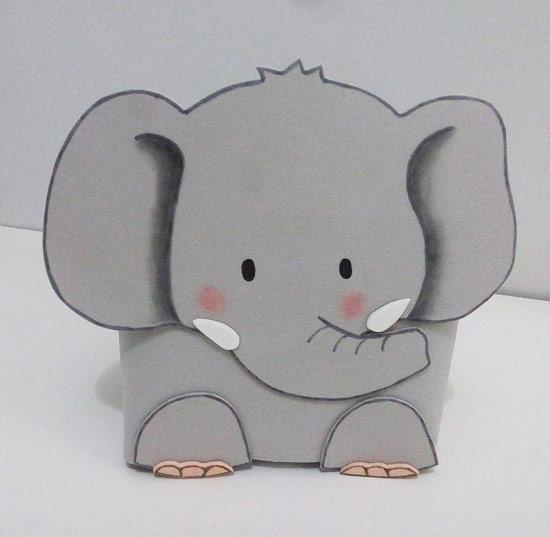 Como fazer porta-treco elefante de EVA