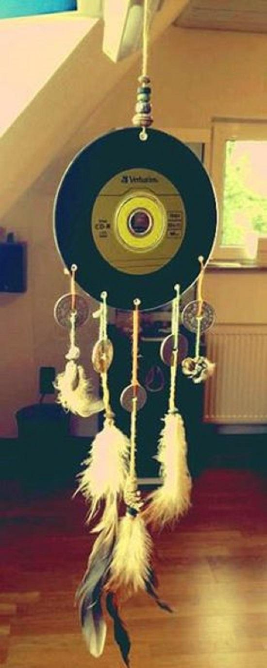 Decoração com discos de vinil