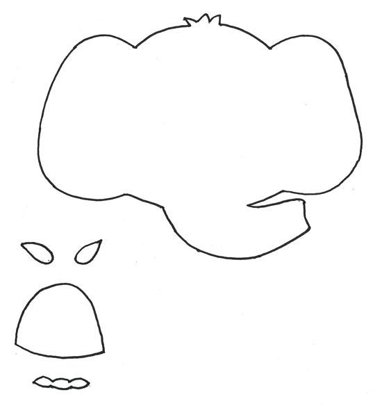 Molde elefante de EVA