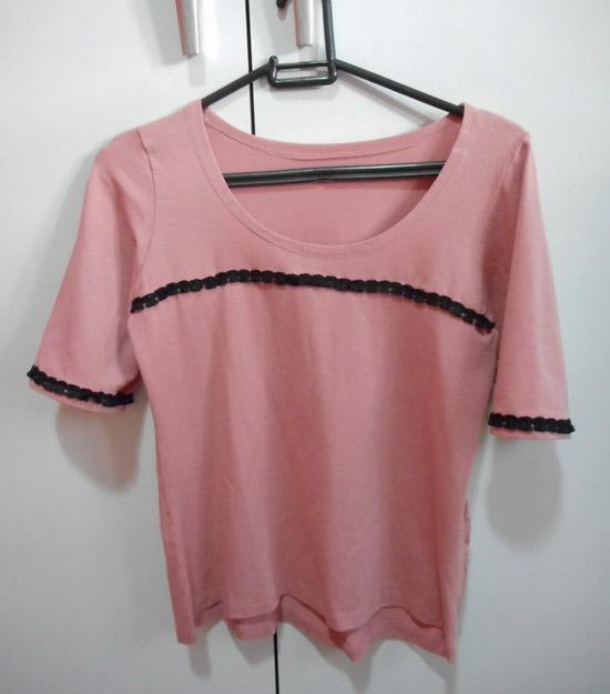 Customizando blusinhas com passamanarias