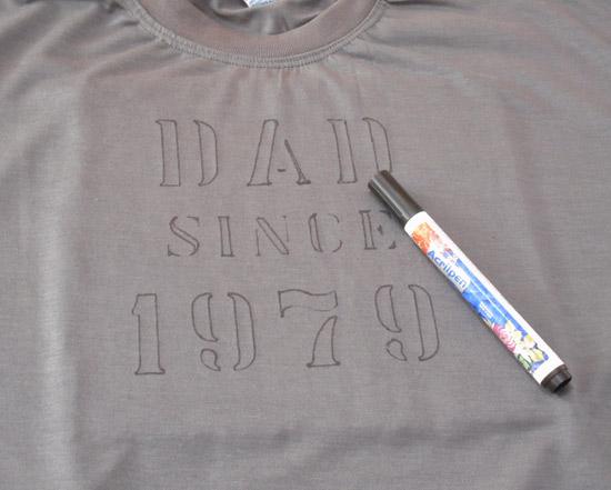 Customizar camiseta para o Dia dos Pais