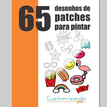 Apostila 65 Desenhos de Patches para Pintar