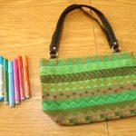 Como customizar bolsa com desenho étnico