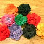 Como fazer enfeite de cabelo – flor de feltro