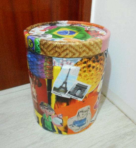 customizando lata decorada