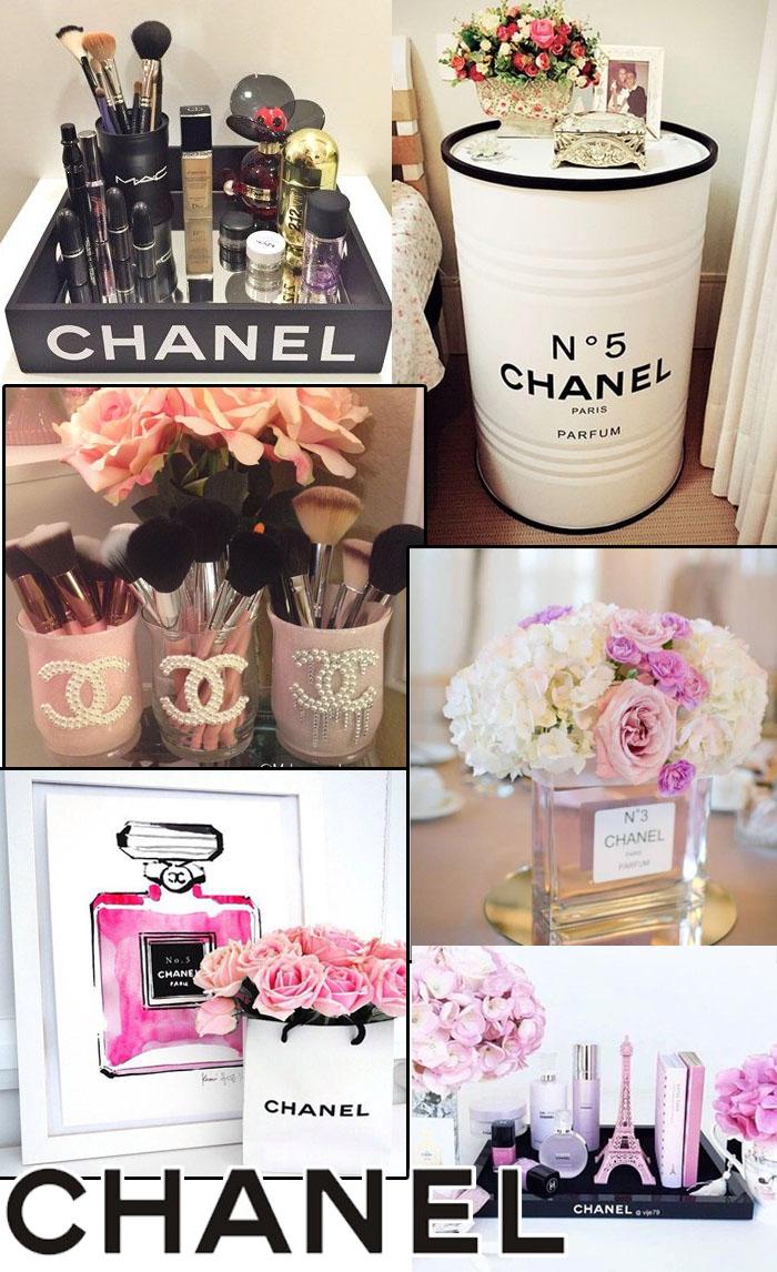 Decoração inspirada na Chanel