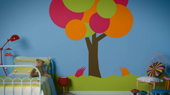 Decoração pintura de quarto infantil