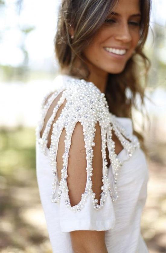 Inspiração: blusinhas com pérolas