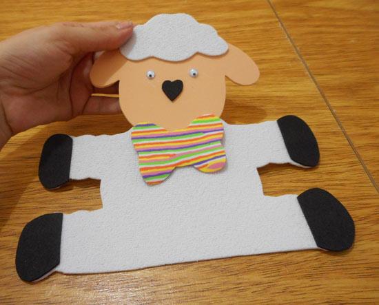 Como fazer porta-treco de ovelhinha