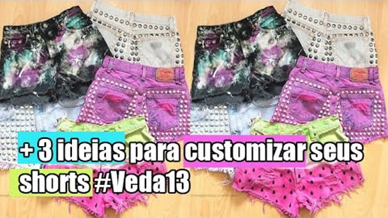 Ideias para customizar shorts