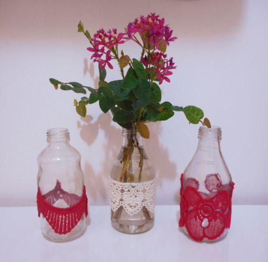 Como customizar garrafa de vidro