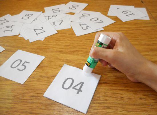 Como fazer calendário do advento - contagem regressiva para o Natal
