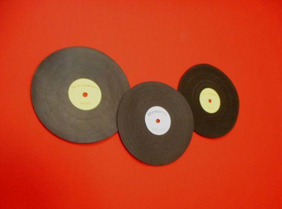 Como fazer disco decorativo usando mousepad velho