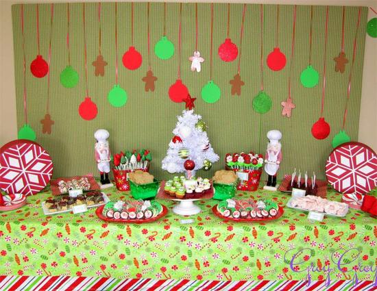 Decoração de festa com tema Natal