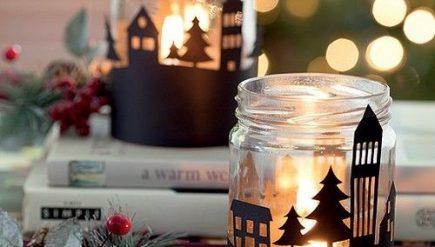 Ideias de decoração de natal com velas