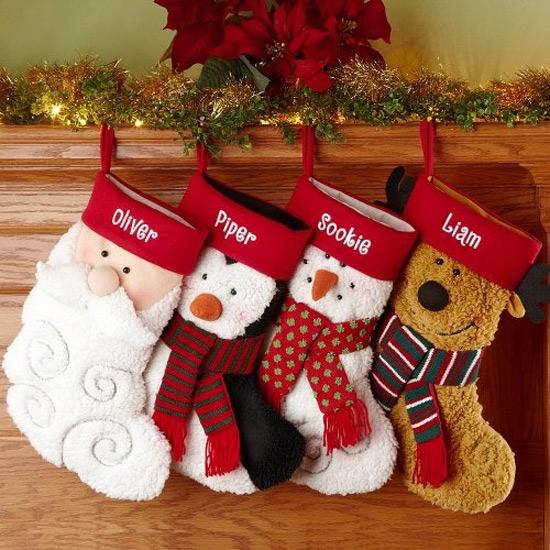 22 ideias decora o de natal com meias diferentes - Calcetines de navidad personalizados ...