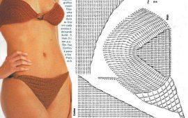 Gráficos e receitas de biquinis de crochês