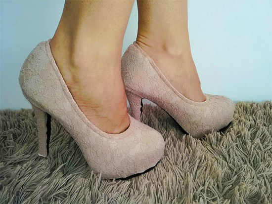 Modelo capa de sapato meia pata