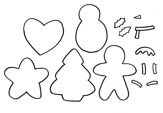 Moldes chaveiros natalinos
