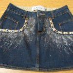 Customização de saia jeans