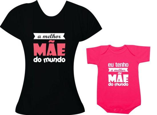 Camisetas com frases divertidas e criativas para mãe e filha