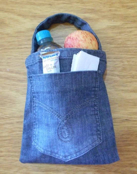 Como fazer bolsinha jeans passo a passo