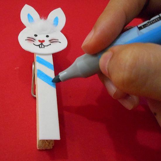 Como fazer prendedor de coelho para a Páscoa