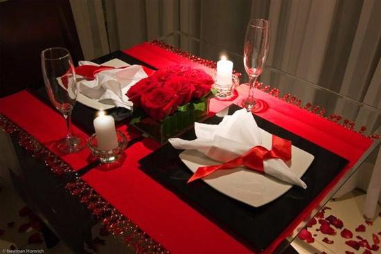 Decoração: ideias para o Dia dos Namorados - mesa posta para dois