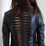 Como customizar jaqueta de couro com trançado nas costas