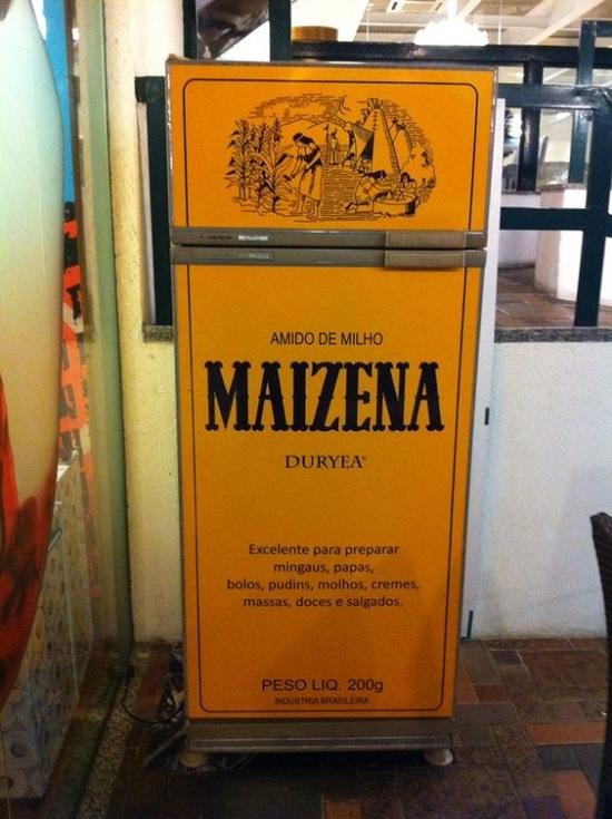 Decoração - Geladeira adesivada - Maizena