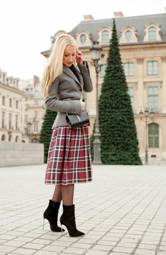 Como usar saia xadrez
