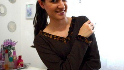 Customizando blusa manga longa