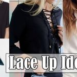 Como customizar blusas e sapatos no estilo Lace Up