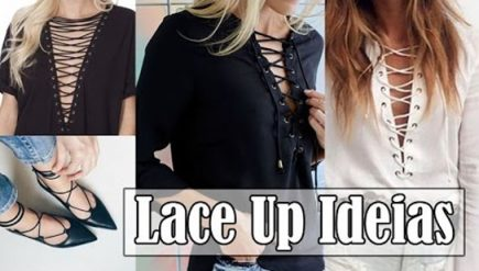 Customizando Lace Up roupas e sapato