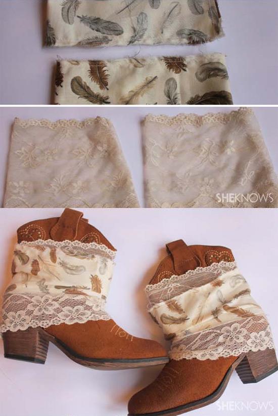 Como customizar botas boho