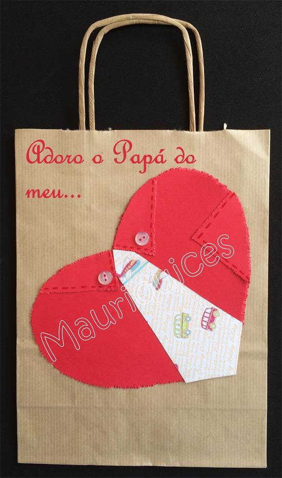 Ideias de sacolas e embalagens decoradas para o presente do Dia dos Pais