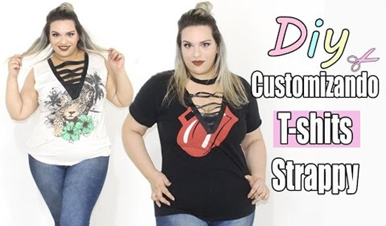 Como customizar camisetas com tiras Strappy