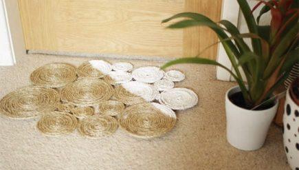 Como fazer capacho de corda