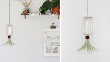 Como fazer vaso de pendurar com garrafa de vidro