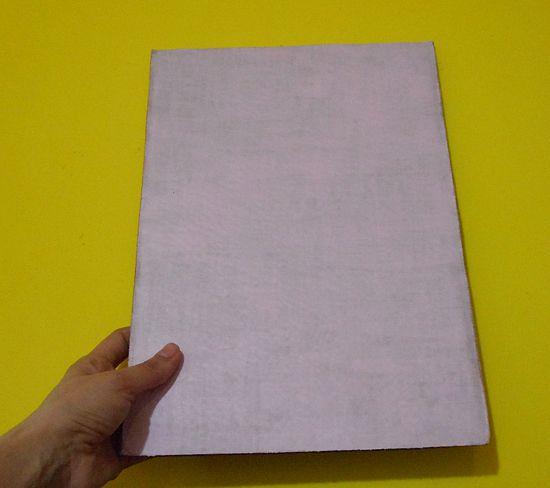 Como fazer quadrinho/prancheta com papelão
