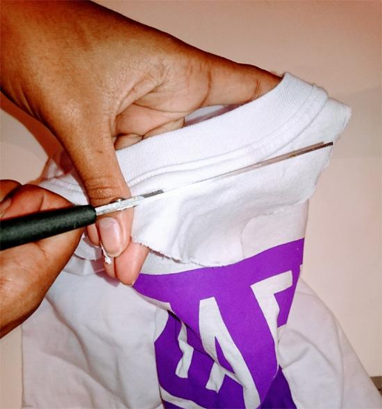 Como fazer camiseta com gola choker