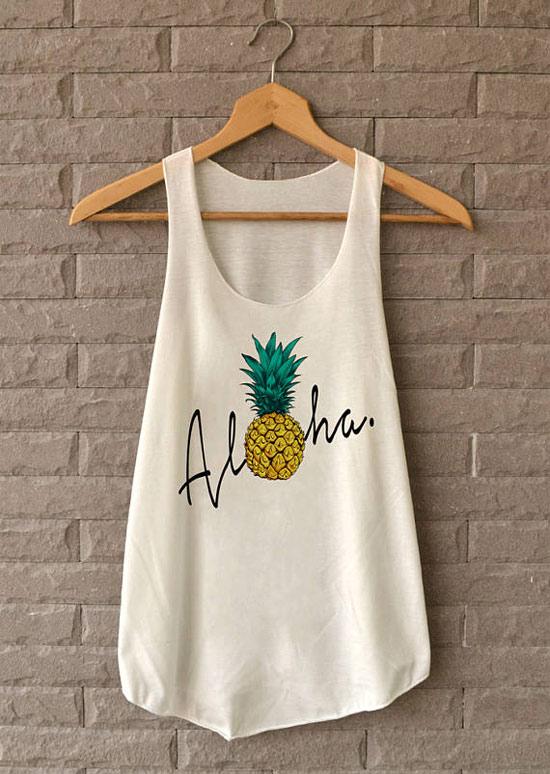Inspiração: abacaxi - camiseta regata