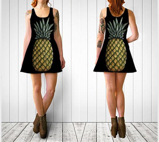 Inspiração: abacaxi - vestido feminino
